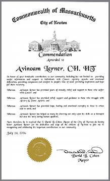 Avinoam Lerner commendation about me page